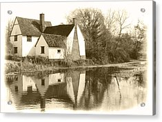 Willy Lots Cottage Acrylic Print by Terence Davis