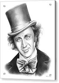 Willy Wonka Acrylic Print by Greg Joens