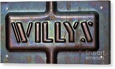 Willys Acrylic Print by Juls Adams