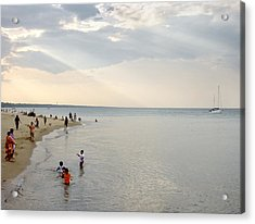 Wilmette Beach Labor Day 2009 Acrylic Print