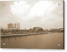 Wilmington Riverfront Retro Acrylic Print