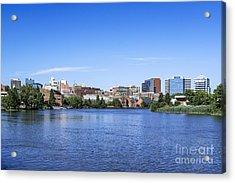 Wilmington Skyline Acrylic Print by John Greim
