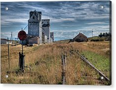 Wilsall Grain Elevators Acrylic Print
