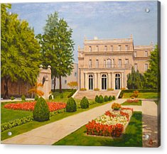 Acrylic Print featuring the painting Wilson Hall Monmouth University by Joe Bergholm