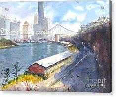 Wilson's Lookout Brisbane Acrylic Print by Sof Georgiou