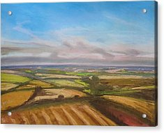 Wiltshire Landscape 1 Acrylic Print by Paul Mitchell