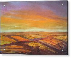 Wiltshire Landscape 2 Acrylic Print by Paul Mitchell