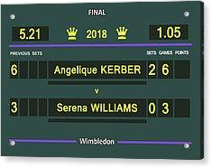 Wimbledon Scoreboard - Customizable - 2017 Muguruza Acrylic Print