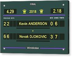 Wimbledon Scoreboard - Customizable Acrylic Print