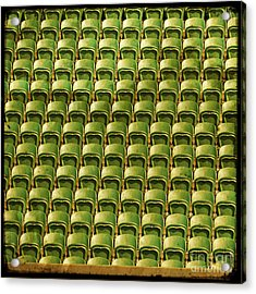 Wimbledon Seats Acrylic Print by Sonia Stewart