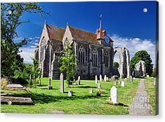 Winchelsea Church Acrylic Print by Nigel Fletcher-Jones