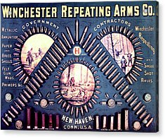 Winchester 1888 Cartridge Board Acrylic Print