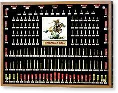 Winchester Ammunition Cartridge Board Acrylic Print