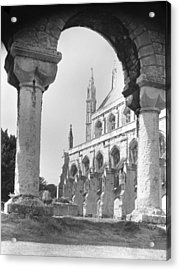 Winchester Cathedral England Acrylic Print by Richard Singleton
