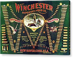 Winchester Double W Cartridge Board Acrylic Print