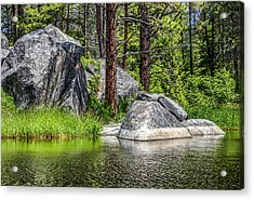 Winchester Lake Rocks Acrylic Print by Brad Stinson
