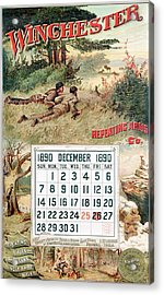 1890 Winchester Repeating Arms And Ammunition Calendar Acrylic Print
