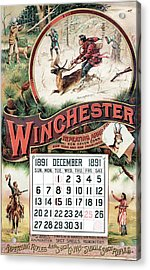 1891 Winchester Repeating Arms And Ammunition Calendar Acrylic Print
