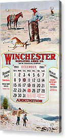 1901 Winchester Repeating Arms And Ammunition Calendar Acrylic Print