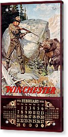1926 Winchester Repeating Arms And Ammunition Calendar Acrylic Print