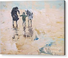 Wind And Kids Acrylic Print