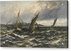 Wind And Sea Rising Off The Isle Of Sheppey Acrylic Print by MotionAge Designs