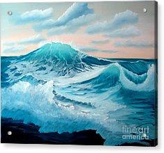 Wind And Surf II Acrylic Print by Tobi Czumak