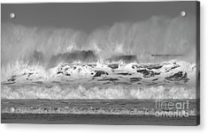 Acrylic Print featuring the photograph Wind Blown Waves by Nicholas Burningham