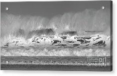 Wind Blown Waves Acrylic Print by Nicholas Burningham