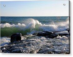 Wind Blown Waves Acrylic Print by Sandra Updyke