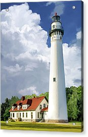 Acrylic Print featuring the painting Wind Point Lighthouse by Christopher Arndt