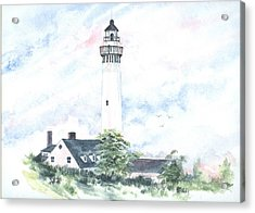 Wind Point Lighthouse Acrylic Print by Denise   Hoff