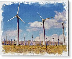 Wind Power Acrylic Print by Ricky Barnard