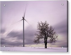 Wind Power Station, Ore Mountains, Czech Republic Acrylic Print