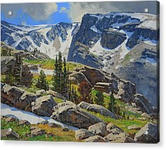 Wind River Range-wyoming Acrylic Print by Lanny Grant