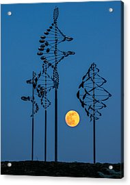 Wind Sculptures At Wilkeson Pointe Acrylic Print
