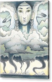 Wind Spirit Dances Acrylic Print by Amy S Turner