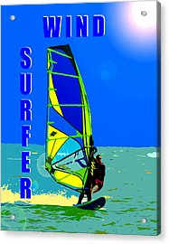 Wind Surfer Poster Acrylic Print