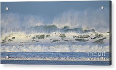 Acrylic Print featuring the photograph Wind Swept Waves by Nicholas Burningham