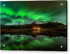 Wind To Northern Ligths Acrylic Print by David Martin Castan