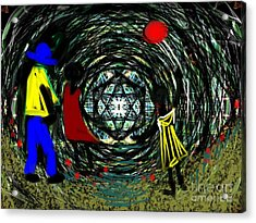 Wind Tunnel Acrylic Print by Elaine Lanoue