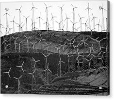 Wind Turbine Farm Acrylic Print by Jeff Lowe