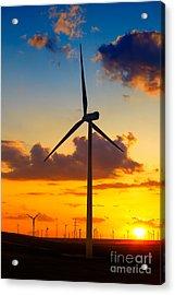 Wind Turbines Acrylic Print by Gabriela Insuratelu