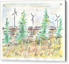 Wind Turbines Acrylic Print by Matt Gaudian