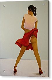 Wind Up Her Skirt Acrylic Print by Peter Wedel