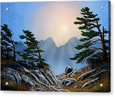 Windblown Pines Acrylic Print by Frank Wilson
