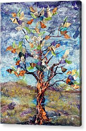Windbreak Acrylic Print by Regina Valluzzi