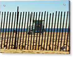Windbreake On The Beach 3 Acrylic Print by Micah May