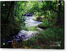 Winding Creek At Chickasaw National Recreation Area In Horizontal Acrylic Print by Tamyra Ayles