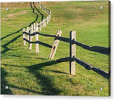 Winding Fences Acrylic Print